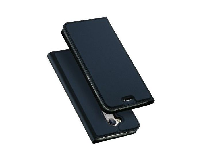 DUX DUCIS SkinPro Wallet Case Θήκη Πορτοφόλι με Stand - Navy Blue (Huawei Honor 6A)