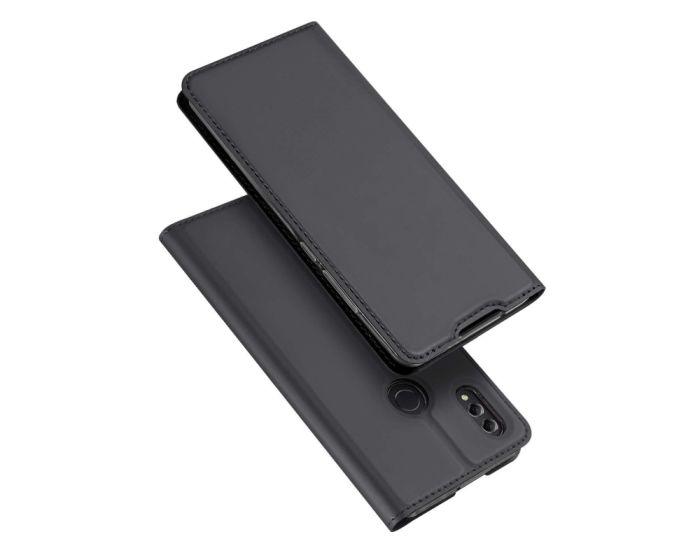 DUX DUCIS SkinPro Wallet Case Θήκη Πορτοφόλι με Stand - Gray (Huawei Honor 8X)