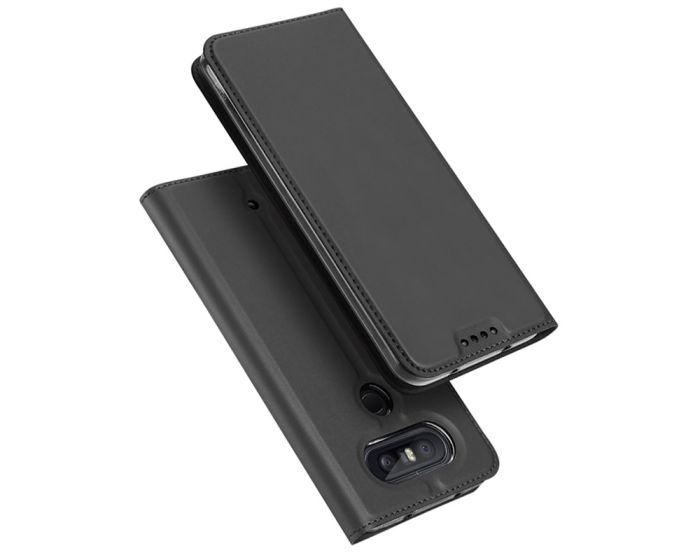 DUX DUCIS SkinPro Wallet Case Θήκη Πορτοφόλι με Δυνατότητα Stand - Gray (LG Q8)