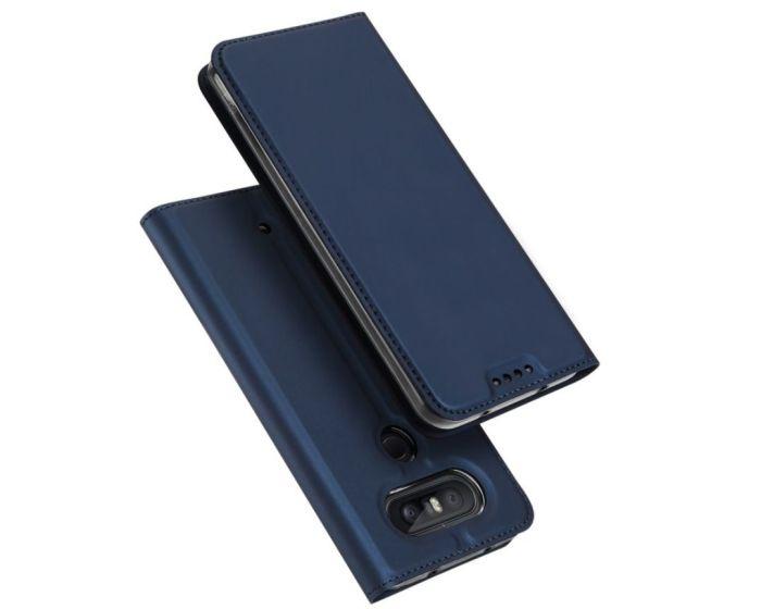 DUX DUCIS SkinPro Wallet Case Θήκη Πορτοφόλι με Δυνατότητα Stand - Navy Blue (LG Q8)