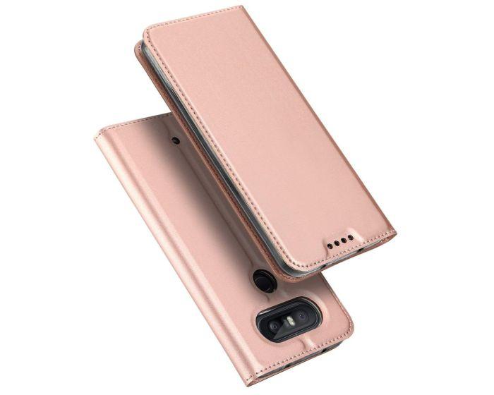 DUX DUCIS SkinPro Wallet Case Θήκη Πορτοφόλι με Δυνατότητα Stand - Rose Gold (LG Q8)