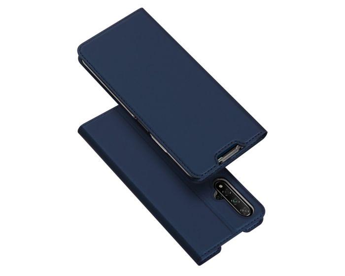 DUX DUCIS SkinPro Wallet Case Θήκη Πορτοφόλι με Stand - Navy Blue (Huawei Nova 5T / Honor 20)