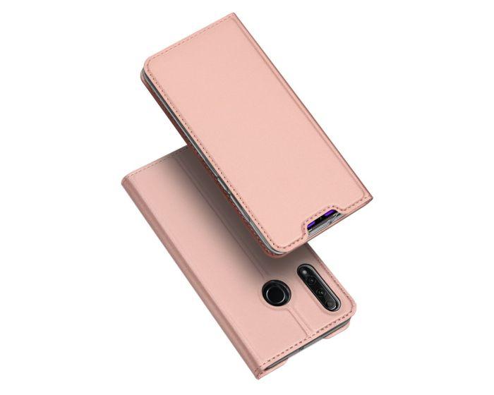 DUX DUCIS SkinPro Wallet Case Θήκη Πορτοφόλι με Stand - Rose Gold (Honor 20 Lite)