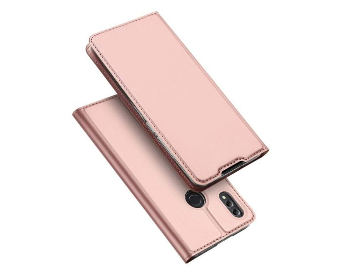 DUX DUCIS SkinPro Wallet Case Θήκη Πορτοφόλι με Stand - Rose Gold (Huawei Honor 8X)