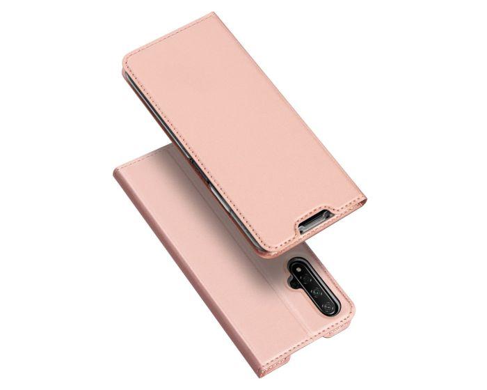 DUX DUCIS SkinPro Wallet Case Θήκη Πορτοφόλι με Stand - Rose Gold (Huawei Nova 5T / Honor 20)