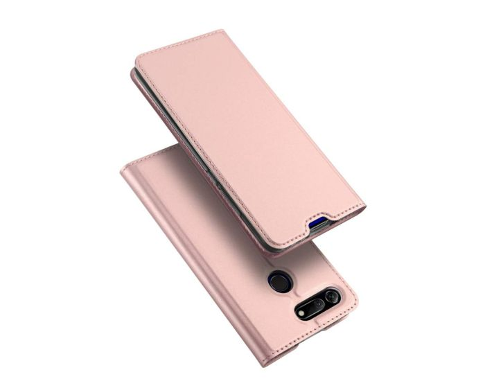 DUX DUCIS SkinPro Wallet Case Θήκη Πορτοφόλι με Stand - Rose Gold (Huawei Honor View 20)