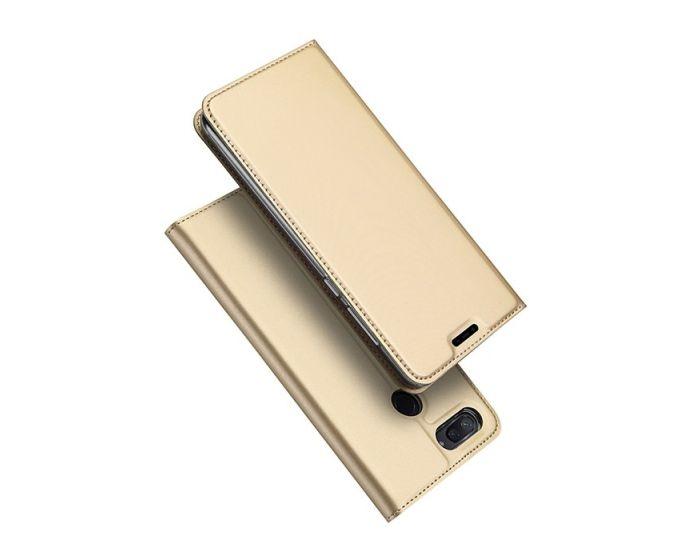 DUX DUCIS SkinPro Wallet Case Θήκη Πορτοφόλι με Δυνατότητα Stand - Gold (Xiaomi Mi8 Lite)