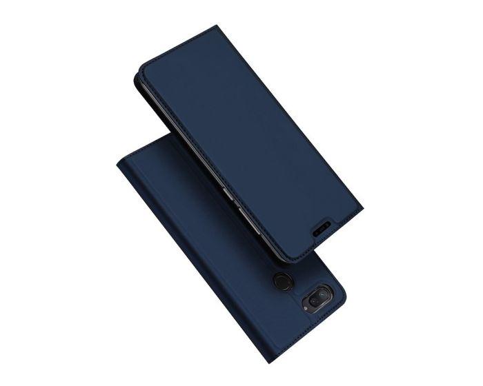 DUX DUCIS SkinPro Wallet Case Θήκη Πορτοφόλι με Δυνατότητα Stand - Navy Blue (Xiaomi Mi8 Lite)