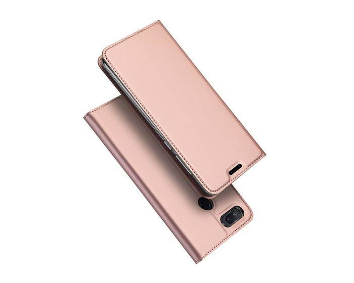 DUX DUCIS SkinPro Wallet Case Θήκη Πορτοφόλι με Δυνατότητα Stand - Rose Gold (Xiaomi Mi8 Lite)