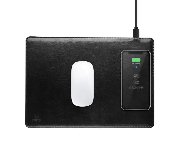 Dux Ducis Wireless Charging PU Leather Mouse Pad C4 - Black