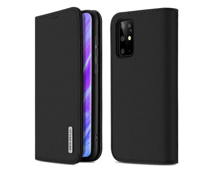 DUX DUCIS Wish Leather Wallet Case Δερμάτινη Θήκη με Δυνατότητα Stand - Black (Samsung Galaxy S20 Plus)