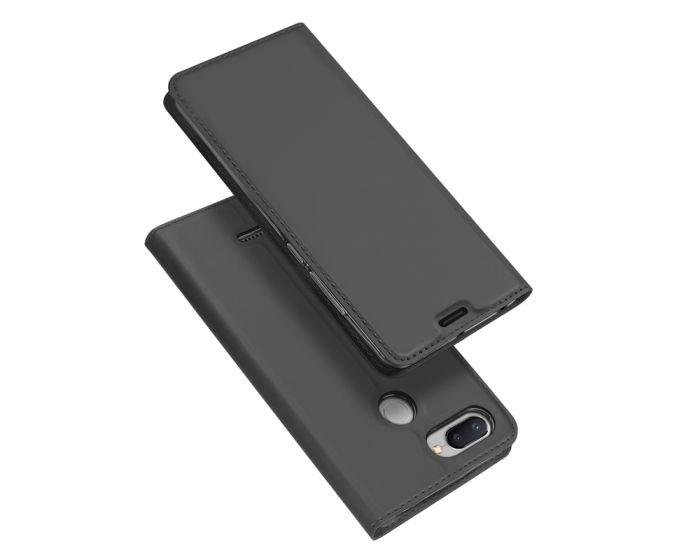 DUX DUCIS SkinPro Wallet Case Θήκη Πορτοφόλι με Δυνατότητα Stand - Gray (Xiaomi Redmi 6)