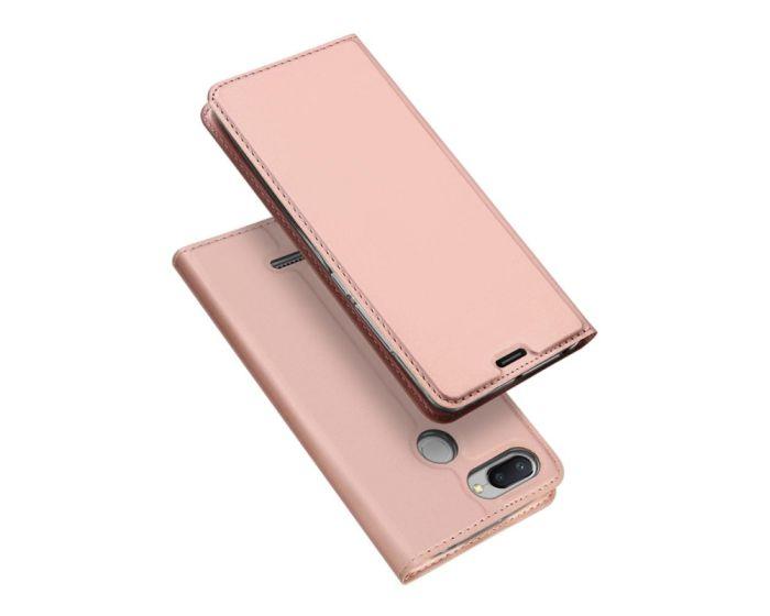 DUX DUCIS SkinPro Wallet Case Θήκη Πορτοφόλι με Δυνατότητα Stand - Rose Gold (Xiaomi Redmi 6)