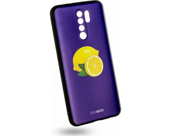 EGOBOO Mat TPU Back Cover Θήκη Σιλικόνης Royal Lemons (Xiaomi Redmi 9)