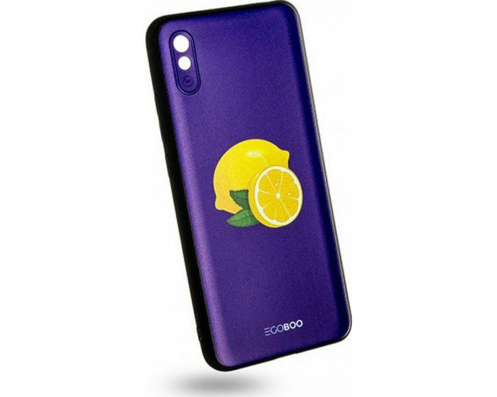 EGOBOO Mat TPU Back Cover Θήκη Σιλικόνης Royal Lemons (Xiaomi Redmi 9A / 9AT)