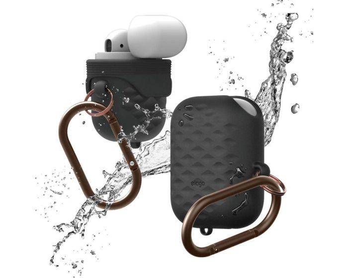 Elago Active Waterproof IP67 Hang Case (EAPWF-ACT-BK) Αδιάβροχη Θήκη Σιλικόνης για Apple AirPods - Black