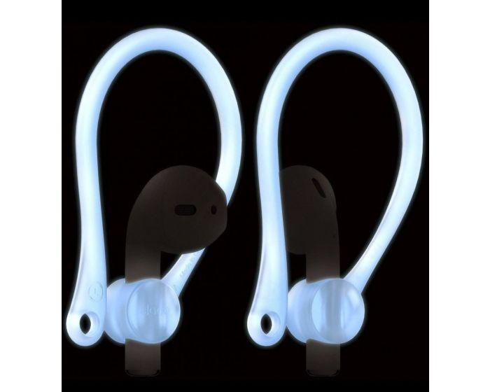 Elago Earhooks (EAP-HOOKS-LUBL) Γάντζοι Σιλικόνης για Apple AirPods - Nightglow Blue