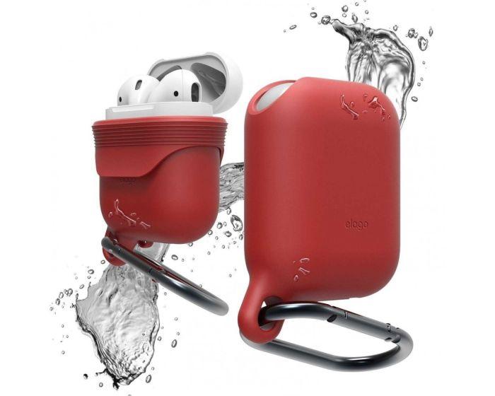 Elago Waterproof Hang Case (EAPWF-RD) Αδιάβροχη Θήκη Σιλικόνης για Apple AirPods - Red