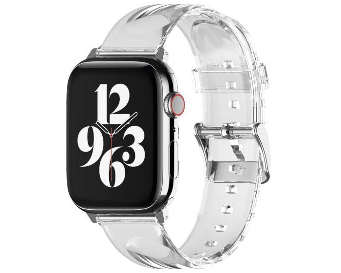 Elago Clear Band (EAW-BANDTPU-40TR) Λουράκι Σιλικόνης για Apple Watch 38/40mm 1/2/3/4/5/6/SE - Διάφανο