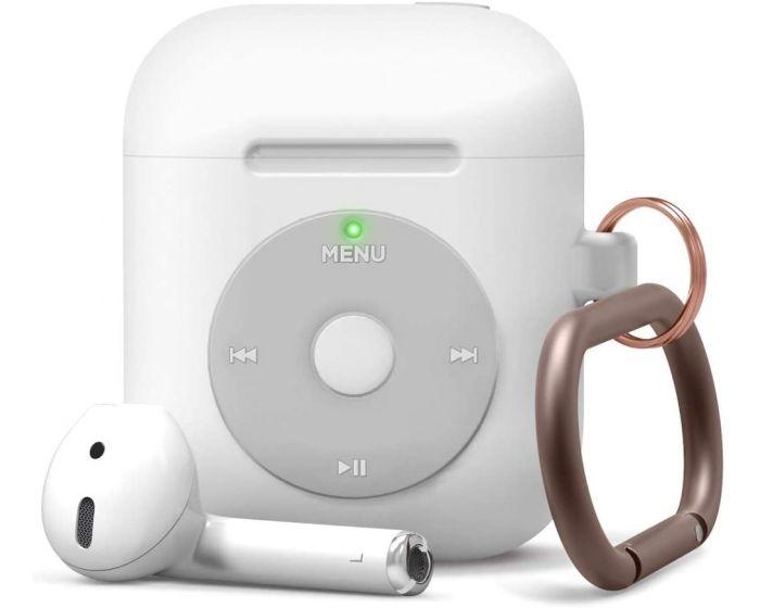 Elago Retro AW6 Hang Case (EAW6-HANG-WH) Θήκη Σιλικόνης για Apple AirPods - White