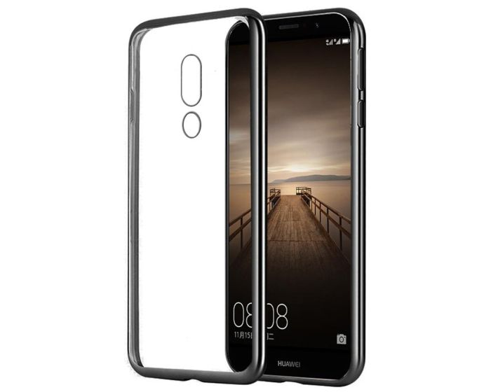 Forcell Electro Bumper Silicone Case Slim Fit - Θήκη Σιλικόνης Clear / Black (Huawei Mate 9 Pro / Porsche Design)