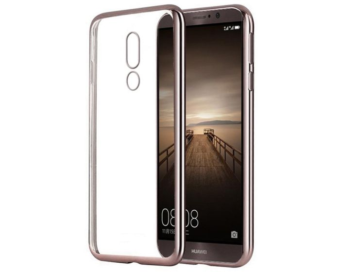 Forcell Electro Bumper Silicone Case Slim Fit - Θήκη Σιλικόνης Clear / Rose Gold (Huawei Mate 9 Pro / Porsche Design)
