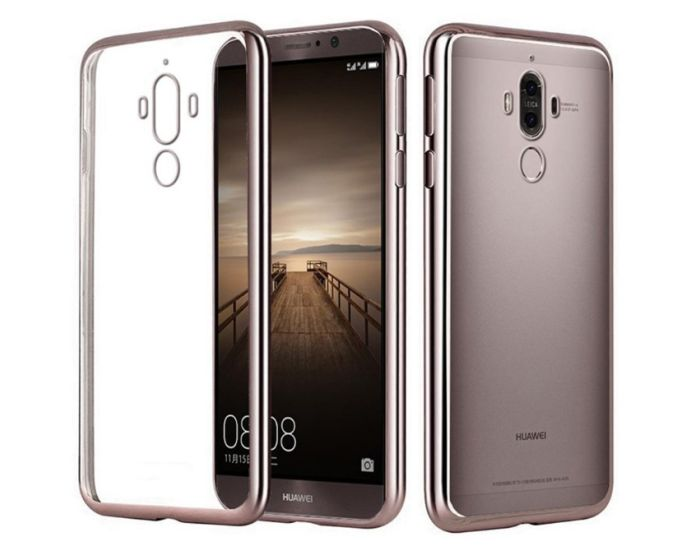 Forcell Electro Bumper Silicone Case Slim Fit - Θήκη Σιλικόνης Clear / Rose Gold (Huawei Mate 9)