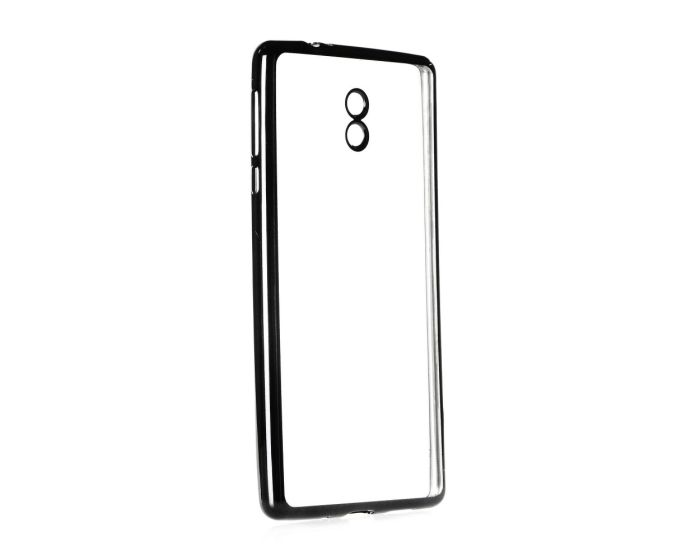 Forcell Electro Bumper TPU Silicone Case Slim Fit - Θήκη Σιλικόνης Clear / Black (Nokia 3)