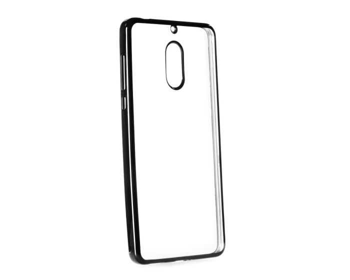 Forcell Electro Bumper TPU Silicone Case Slim Fit - Θήκη Σιλικόνης Clear / Black (Nokia 6)