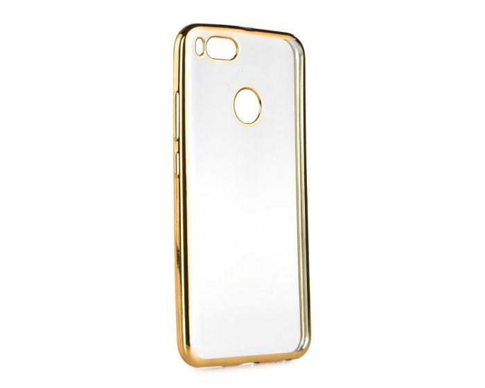 Forcell Electro Bumper TPU Silicone Case Slim Fit - Θήκη Σιλικόνης Clear / Gold (Xiaomi Mi A1 / 5X)