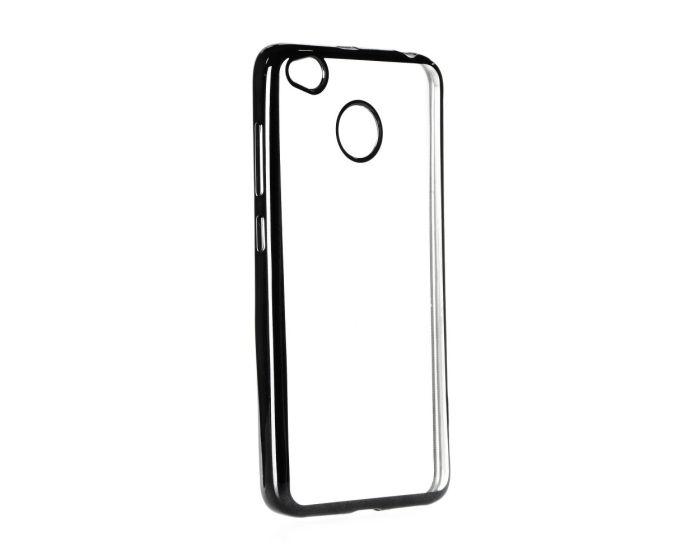 Forcell Electro Bumper TPU Silicone Case Slim Fit - Θήκη Σιλικόνης Clear / Black (Xiaomi Redmi 4X)