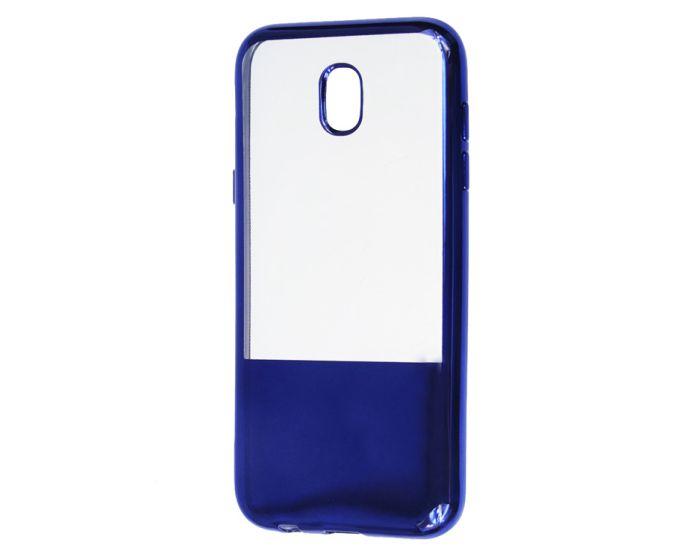 XCase Electroplate TPU Slim Fit Case - Θήκη Σιλικόνης Clear / Dark Blue (Samsung Galaxy J5 2017)
