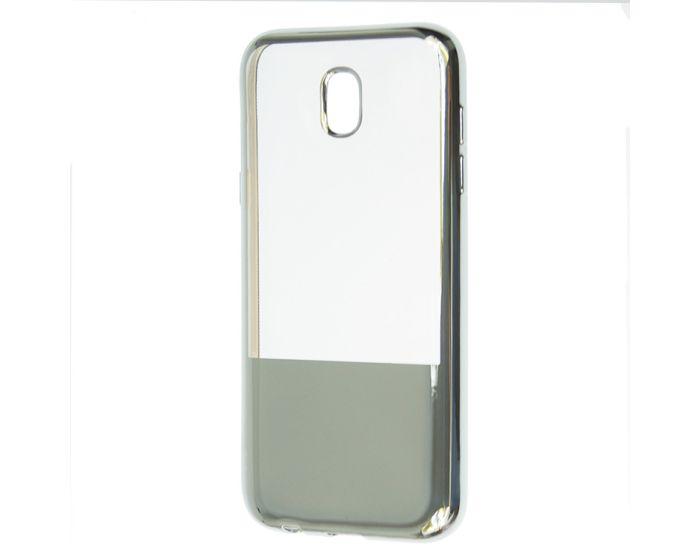 XCase Electroplate TPU Slim Fit Case - Θήκη Σιλικόνης Clear / Silver (Samsung Galaxy J5 2017)
