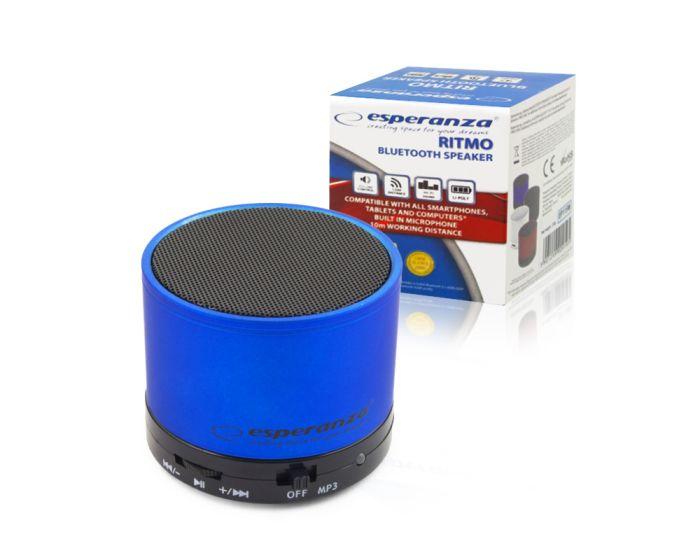 Esperanza Ritmo Bluetooth Mini Speaker Φορητό Ηχείο 3W Blue