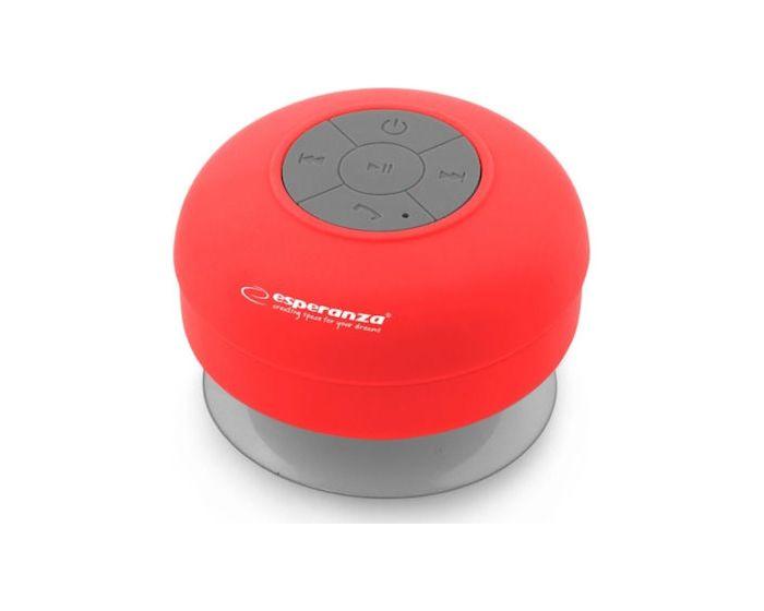 Esperanza Sprinkle Bluetooth Mini Speaker IPX4 Φορητό Ηχείο 3W Red