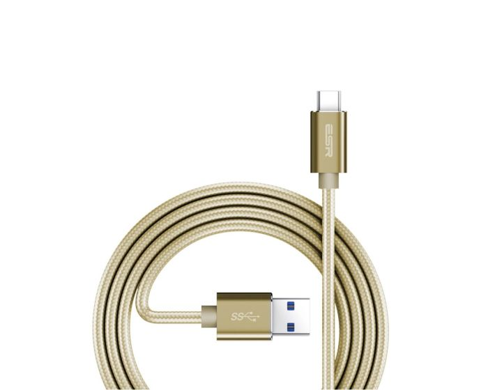 ESR Double Braided Type-C Data Sync & Charging 1m Champagne Gold