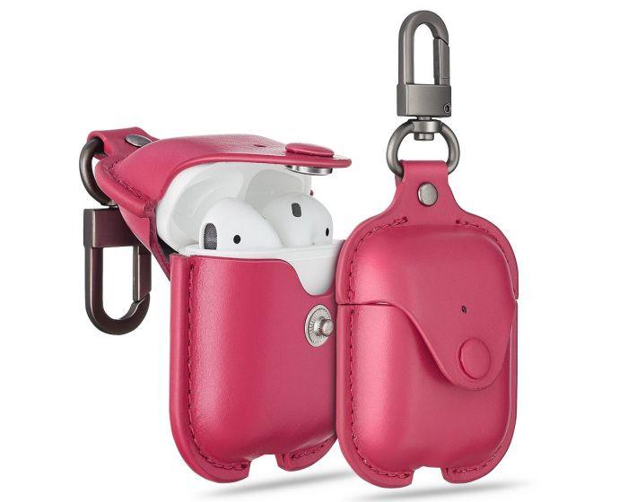ESR Oxford Leather AirPods Case Δερμάτινη Θήκη για Apple Airpods - Pink