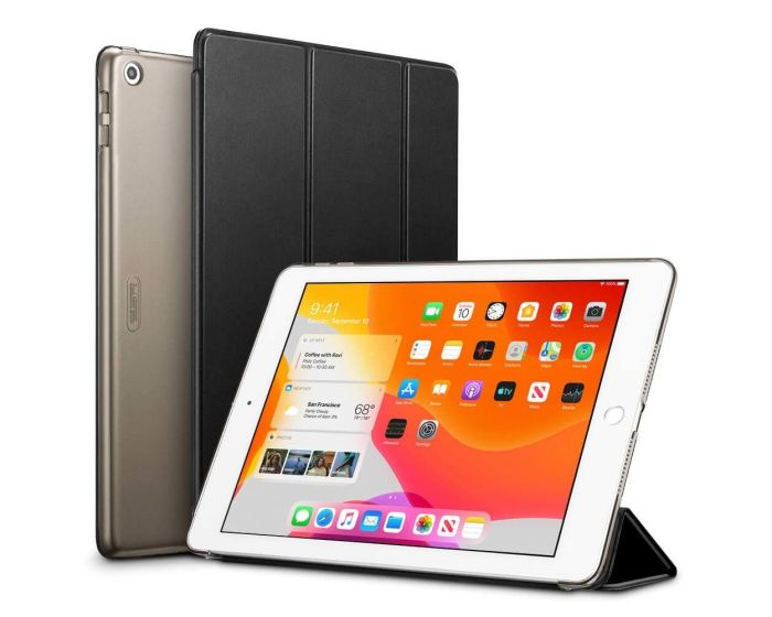 ESR Yippee Smart Cover Stand Case - Jelly Black (iPad 10.2 2019 / 2020)