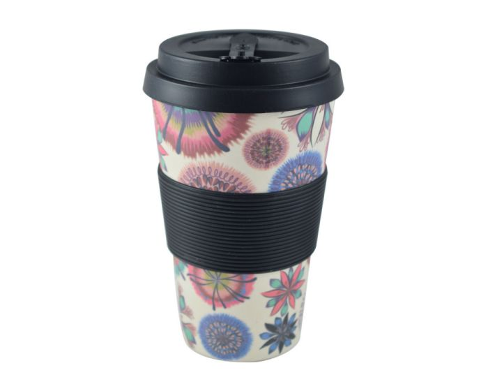 Estia Bamboo Cup 435ml (01-8208) Οικολογική Κούπα - Flower Power