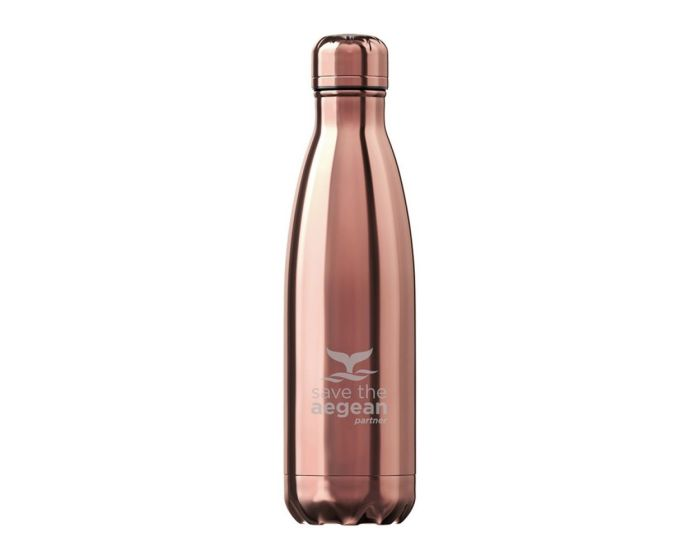 Estia Travel Flask Save The Aegean (01-7836) Stainless Steel Bottle 500ml Θερμός - Rose Gold