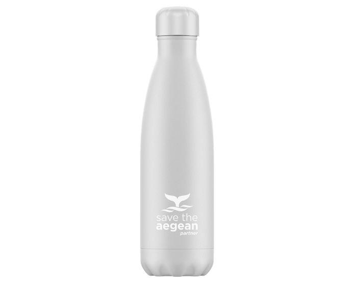 Estia Travel Flask Save The Aegean (01-9014) Stainless Steel Bottle 500ml Θερμός - White Matte
