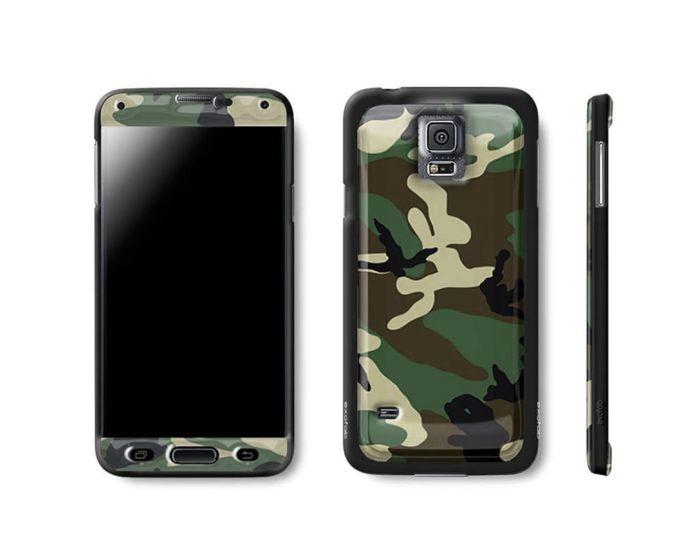 Exofab Selfie Woodland Gel / Black Shell (Samsung Galaxy S5)