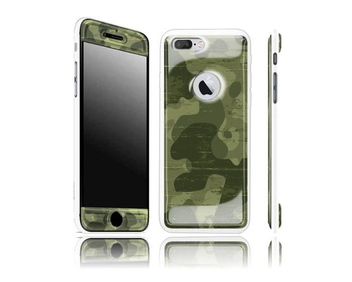 Exofab Selfie Woodland Gel / White Shell for iPhone 7 / 8