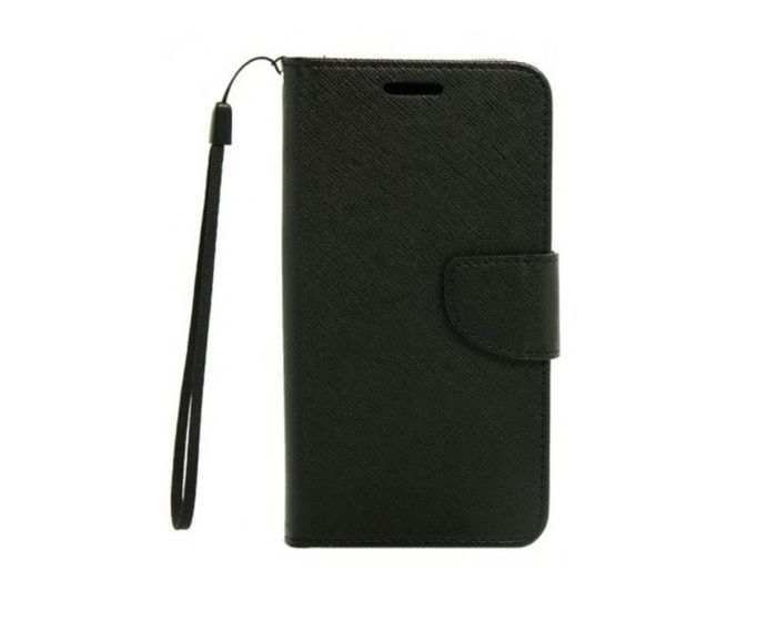 Tel1 Fancy Θήκη Πορτοφόλι Black (Lenovo Vibe P1)