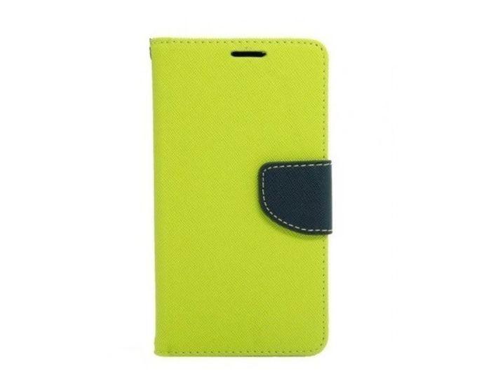 Tel1 Fancy Diary Θήκη Πορτοφόλι με δυνατότητα Stand Lime / Navy (Huawei Ascend G620s)