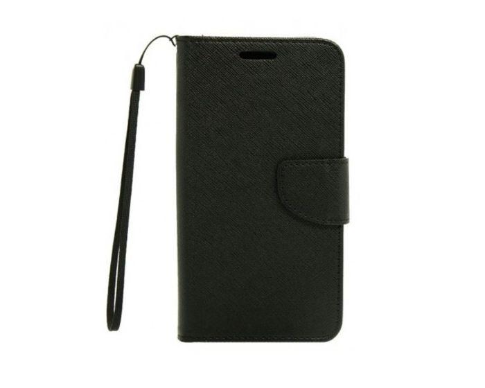 Tel1 Fancy Diary Case Θήκη Πορτοφόλι με δυνατότητα Stand Black (Lenovo Vibe S1)