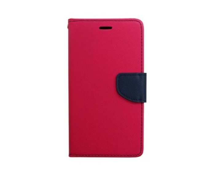 Tel1 Fancy Diary Θήκη Πορτοφόλι με δυνατότητα Stand Pink / Navy (Huawei Honor 7i / Huawei Shot X)