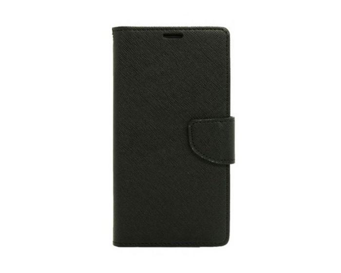 Tel1 Fancy Diary Θήκη Πορτοφόλι με δυνατότητα Stand Black (Huawei Nova Plus)