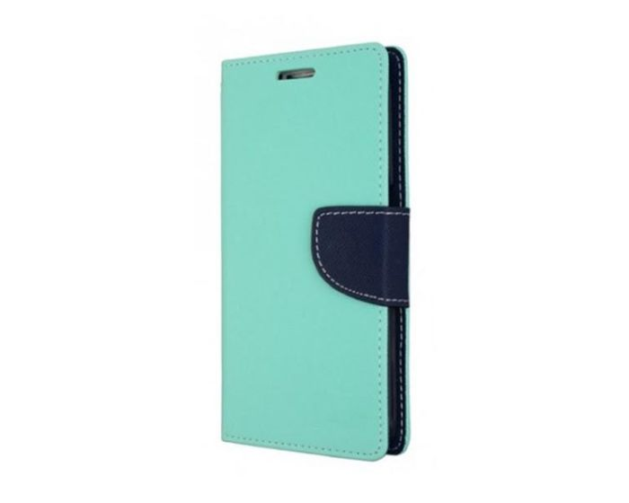 Tel1 Fancy Diary Case Θήκη Πορτοφόλι με δυνατότητα Stand Mint / Navy (Lenovo Vibe P2)