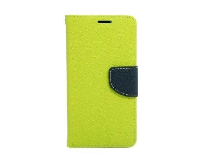 Tel1 Fancy Diary Θήκη Πορτοφόλι με δυνατότητα Stand Lime / Navy (Huawei Nova Plus)